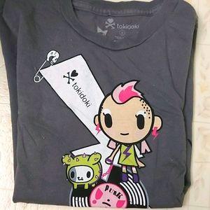 Tokidoki punk rock t-shirt